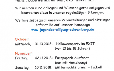 JuBI Schramberg  – Oktober, November 2018