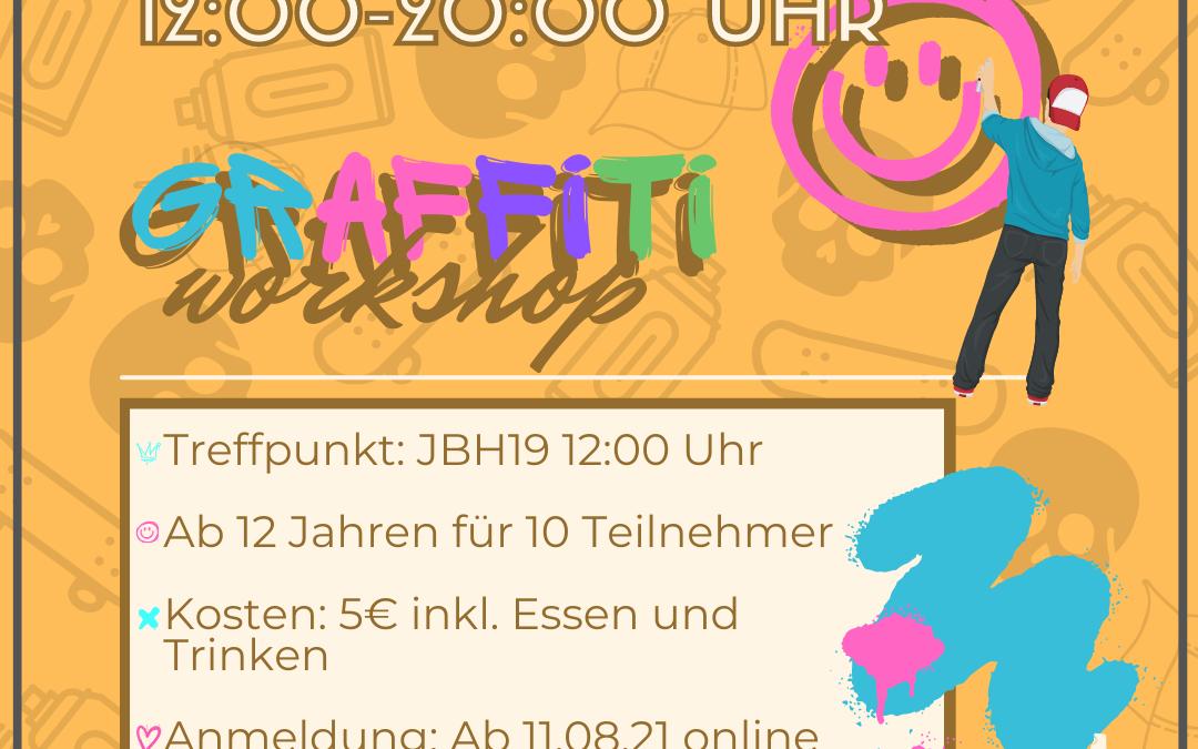 Graffiti-Workshop am 07.09.2021
