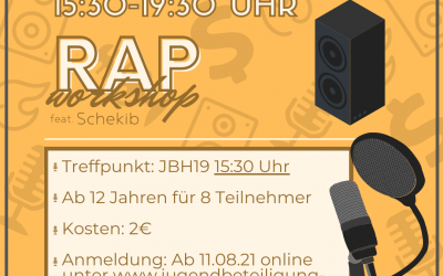 Rap-Workshop mit Schekib am 06.09.2021
